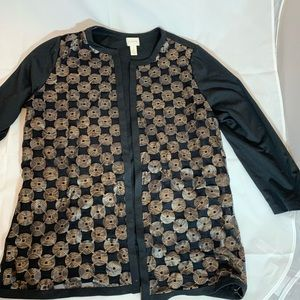 Chicos blazer black and brown NWOT